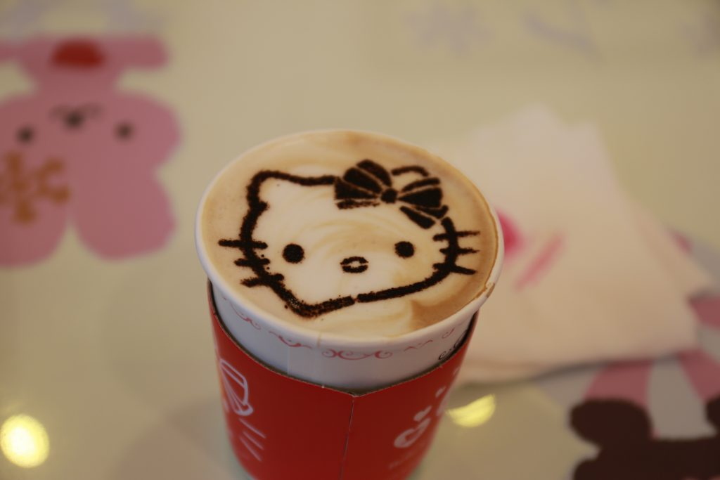 Hello Kitty Coffee at Incheon Airport