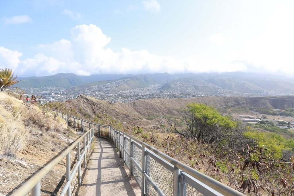 Hiking to Diamond Head
