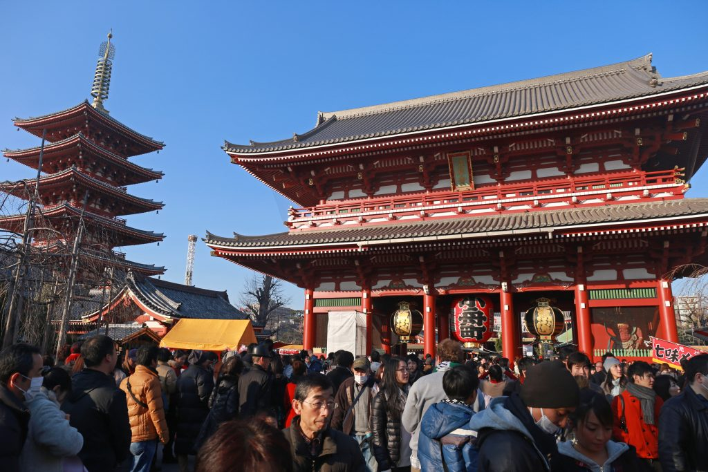 Asakusa Temple Sensoji in New Year