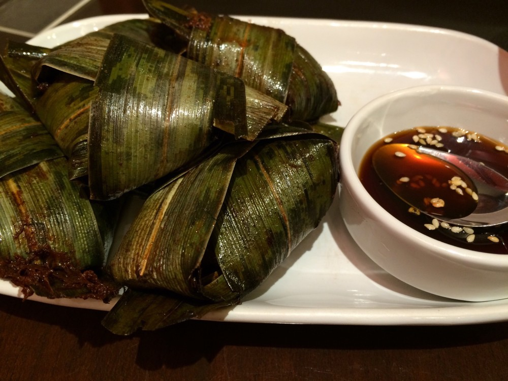 Chicken in pandanus leaves