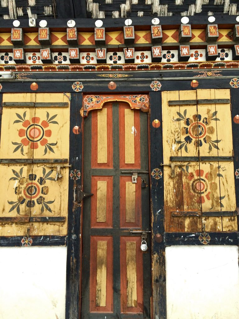 A door of Thimphu