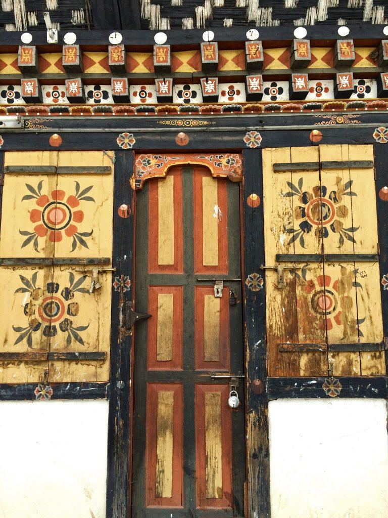 A door of Thimphu