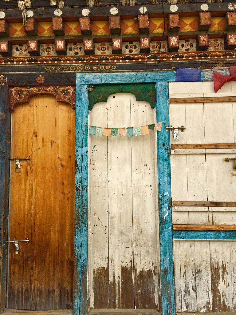 A locked door in Thimphu