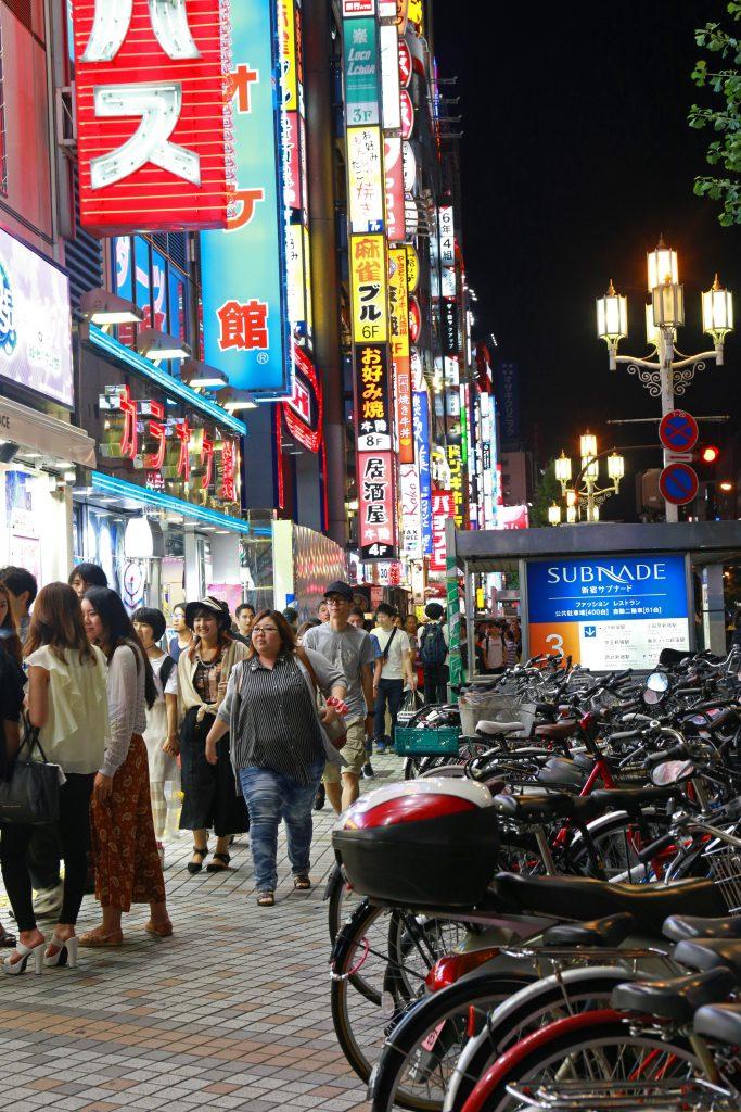 A night time in Shinjuku