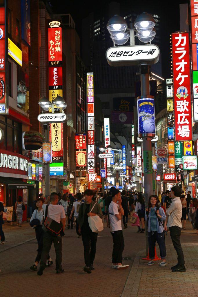 Busy Alley of Shibuya