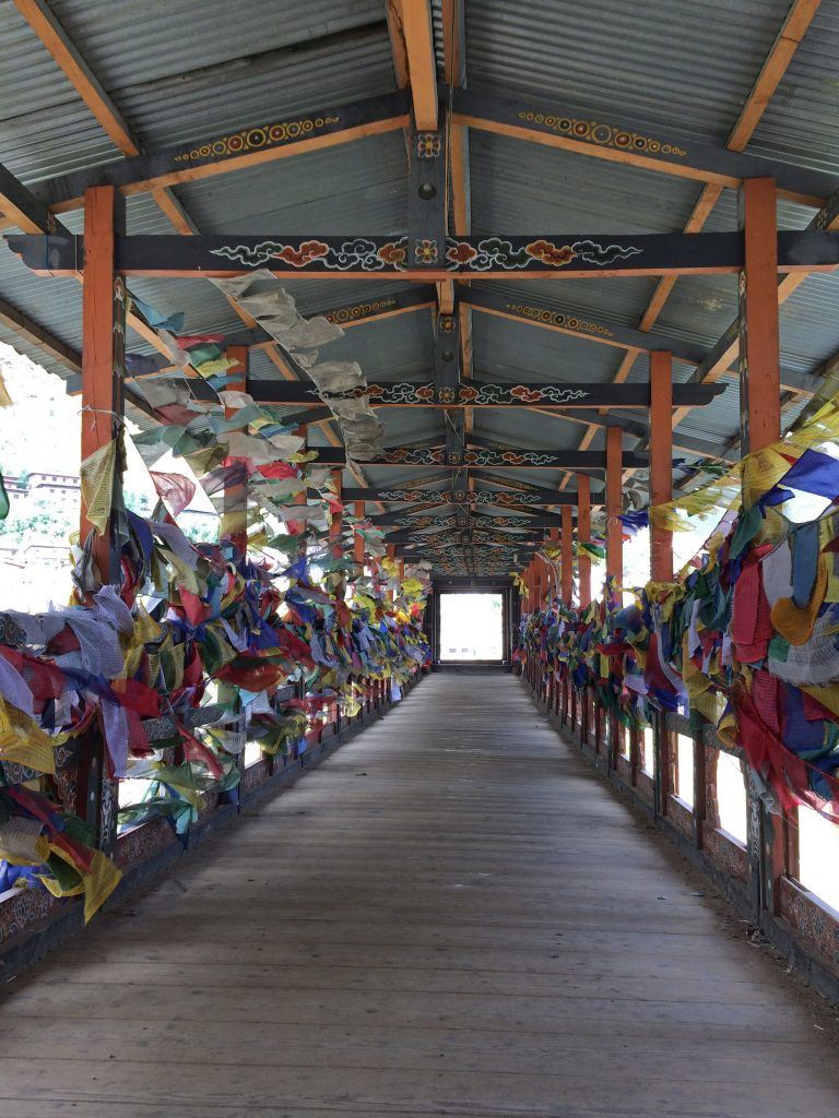Prayer Flags Bridge Thimphu
