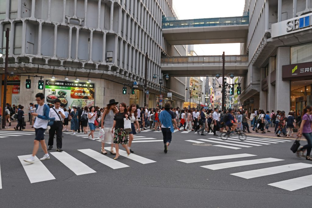 Shibuya less famous crossing