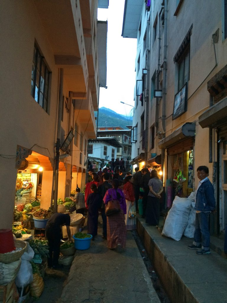 Thimphu in the evening