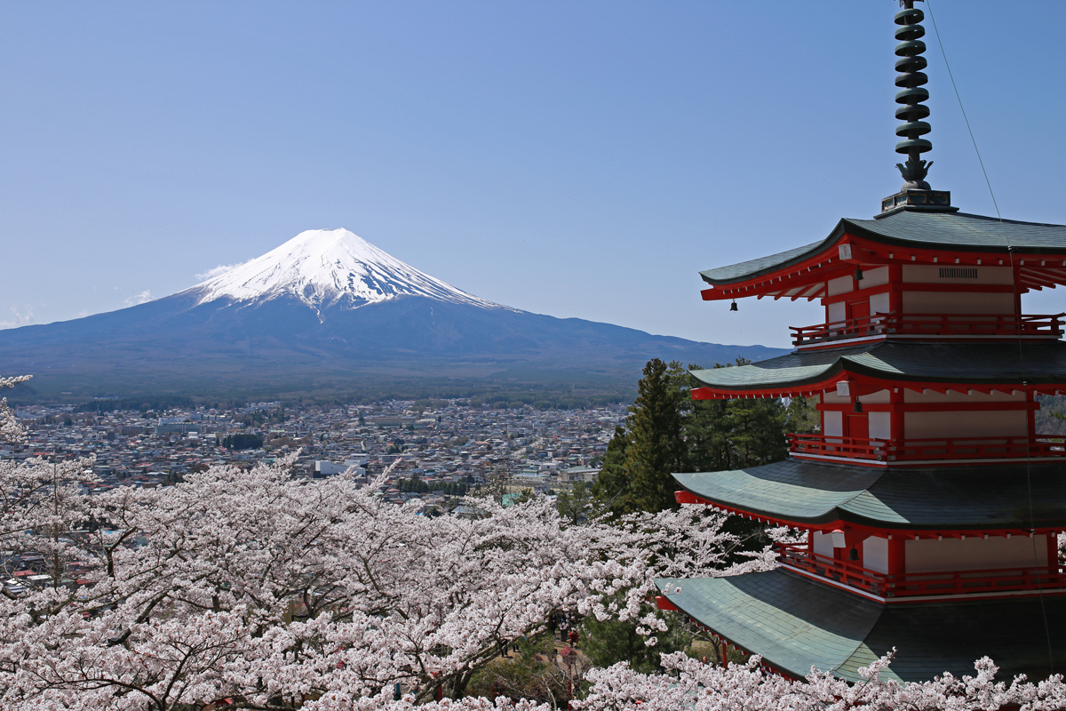 Chureito-Sakura-Mt-Fuji