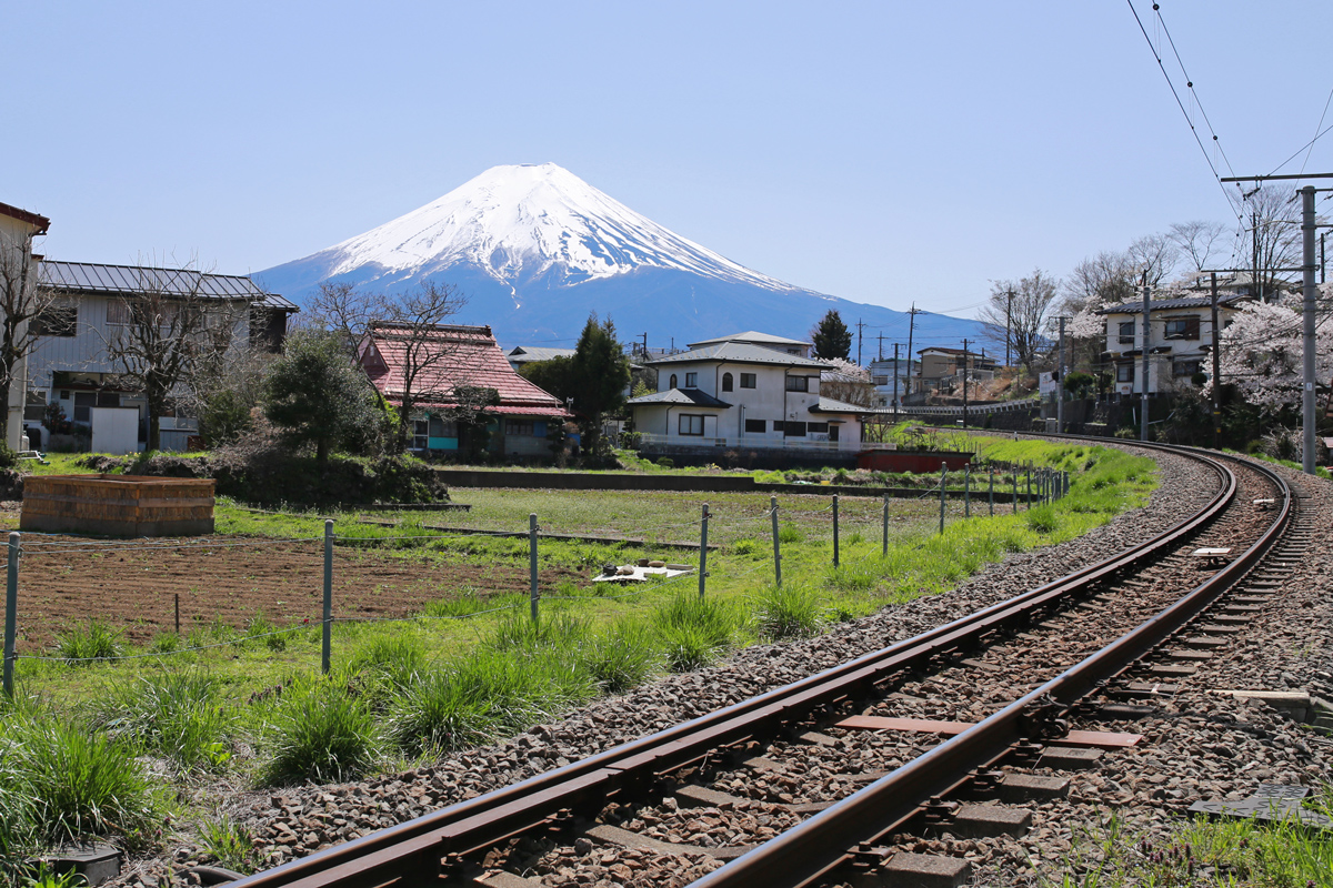 Mt Fuji View near Shimoyoshida Station