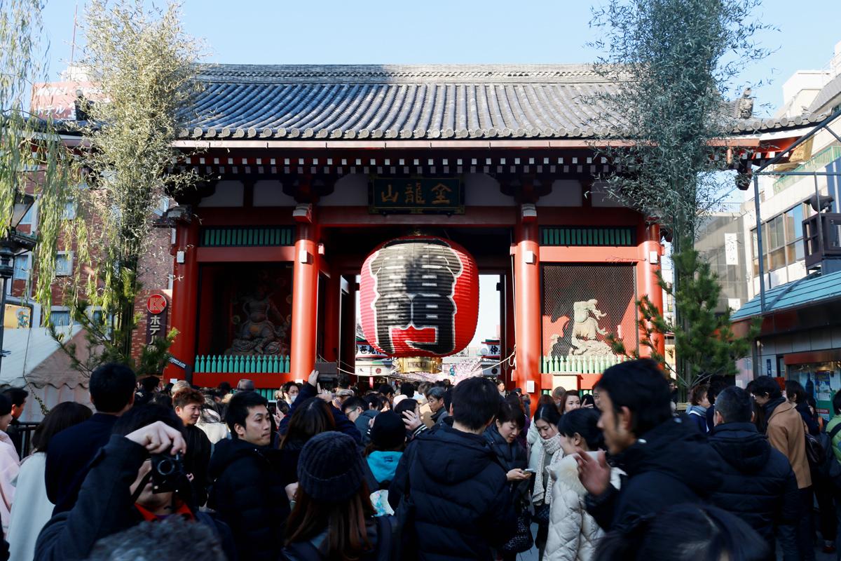 Kaminarimon Gate Asakusa Sensoji Temple