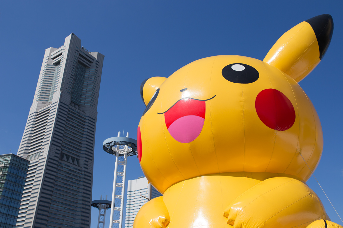 Pikachu-and-Yokohama-Landmark-Tower