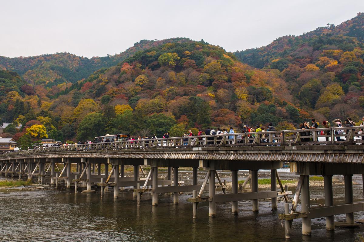 Autumn Foliage in Kyoto: Togetsukyo Bridge