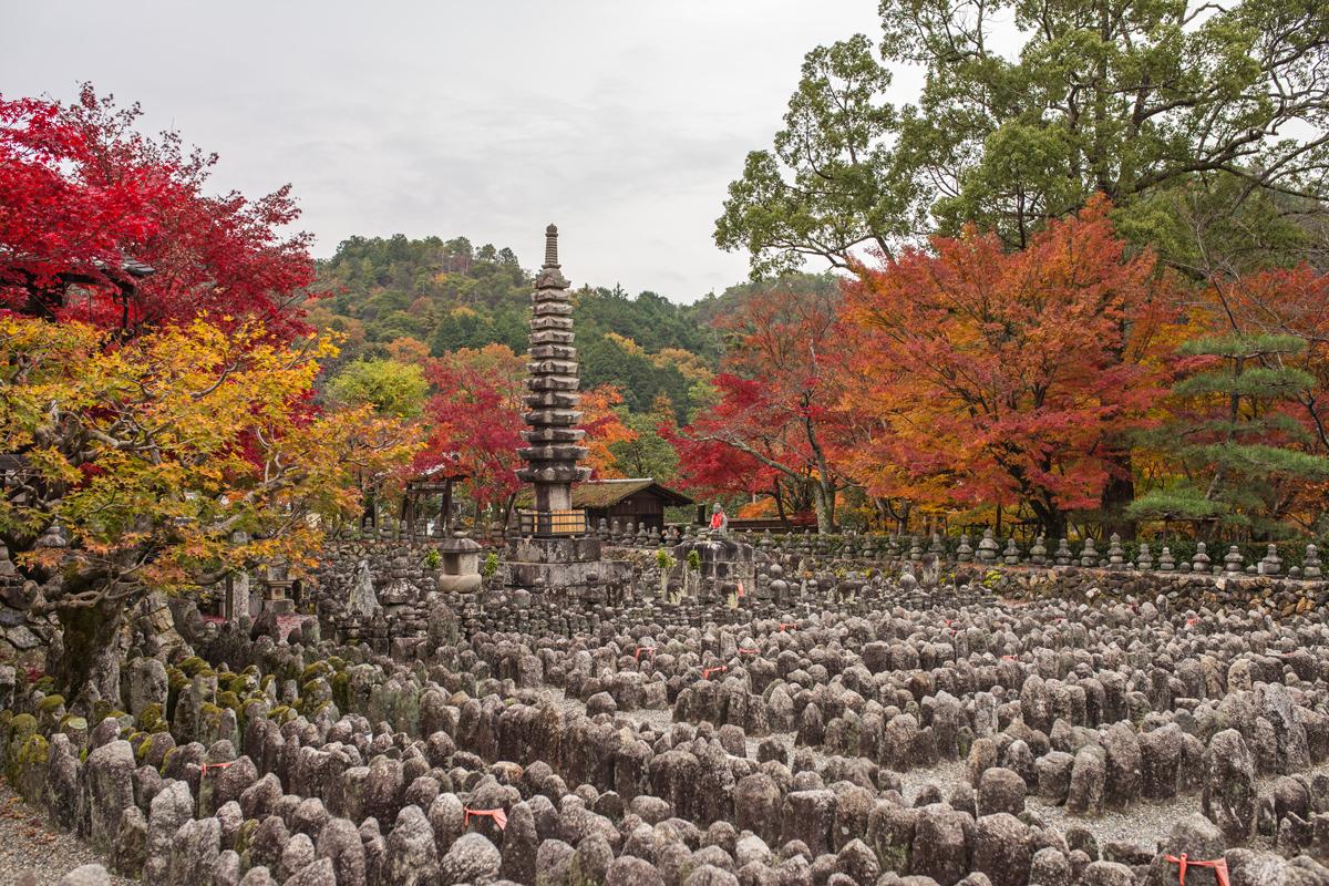 Sai-no-Kawara at Adashino Nenbutsuji in Autumn