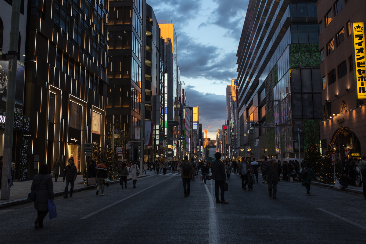 Sunset time Ginza