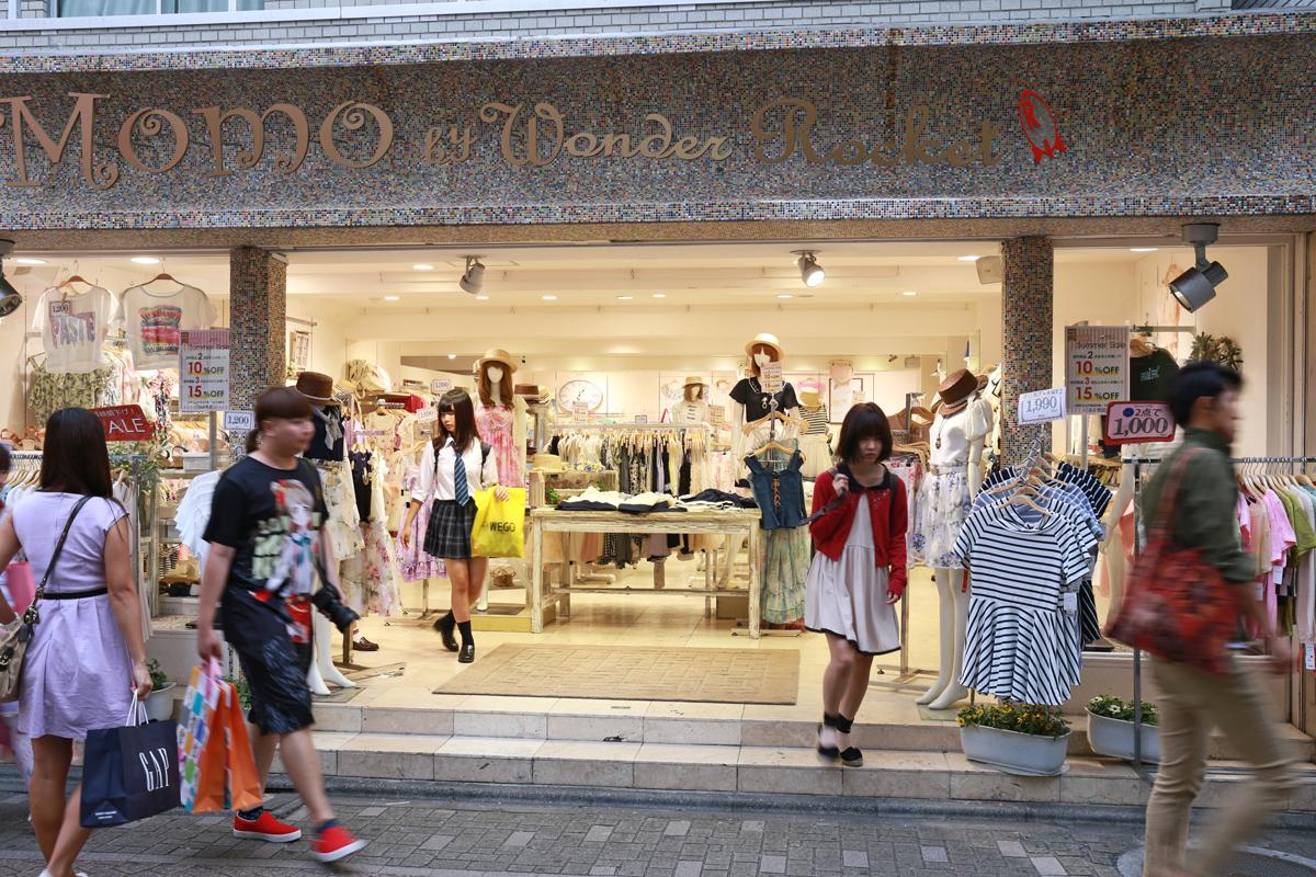 Shopping at Takeshita-dori Street