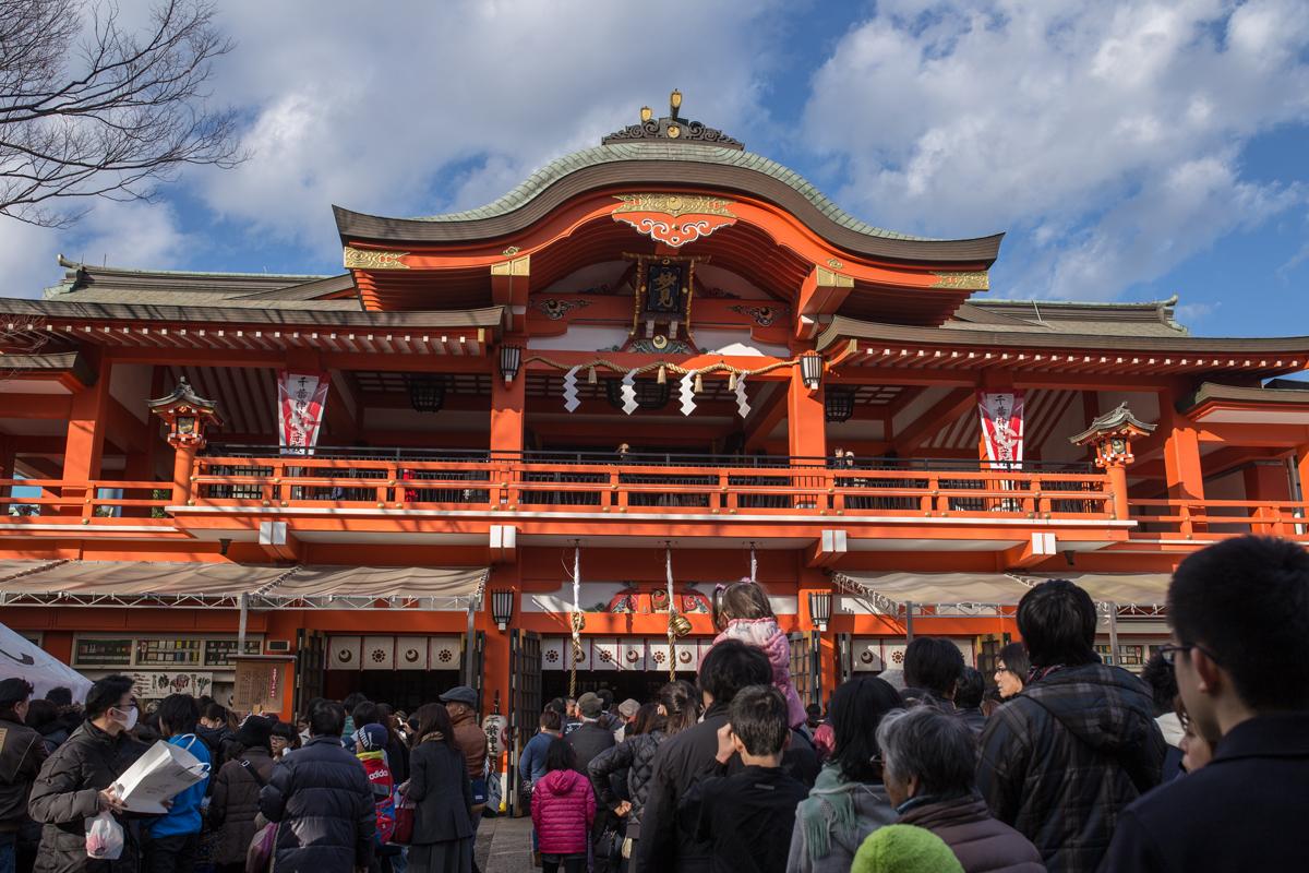 Chiba Jinja Shrine in New Year