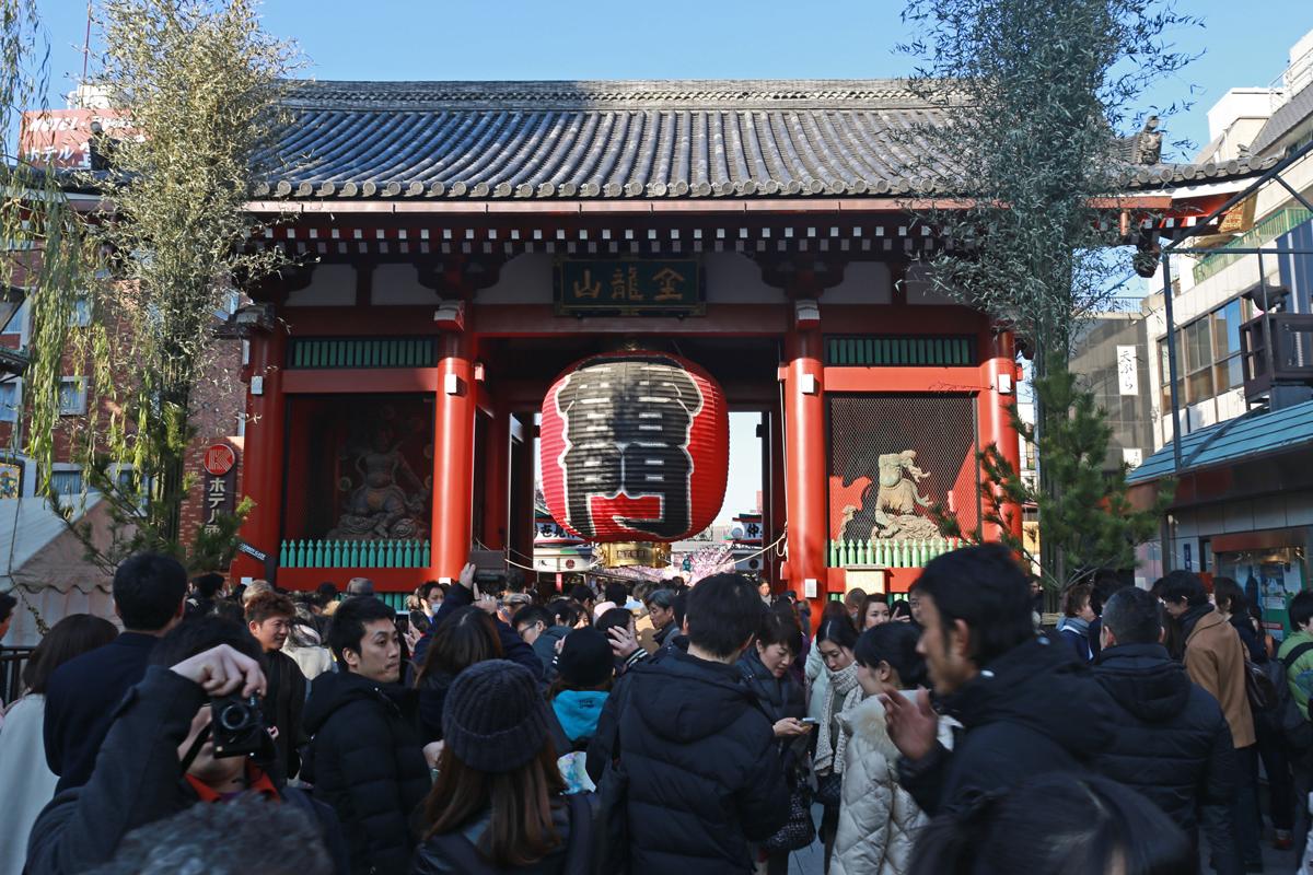 Kaminari-mon Gate in New Year, Asakusa Tokyo