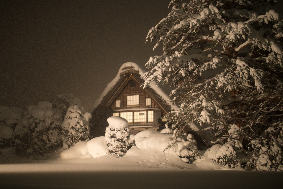 Light-up at Kanda-house in Shirakawa-go