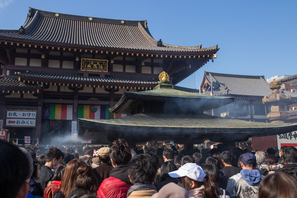 Kawasaki Daishi Temple in New Year
