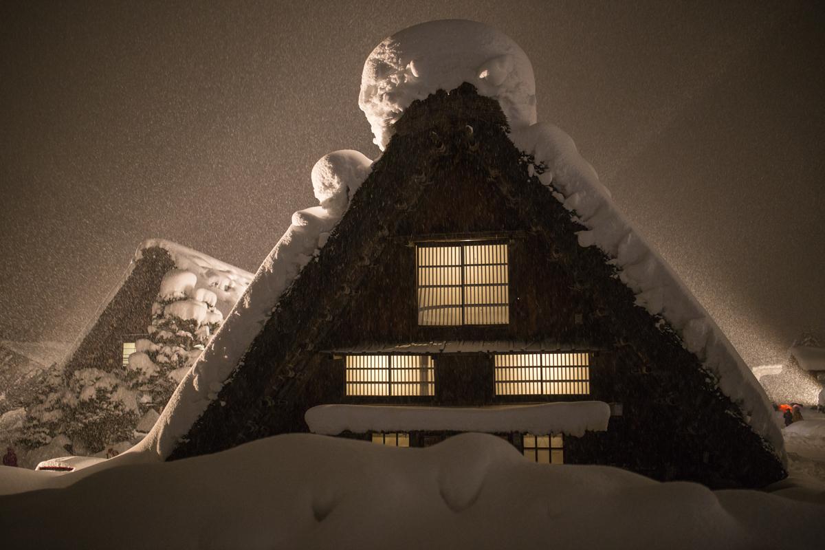 Light-up Shirakawa-go in Winter
