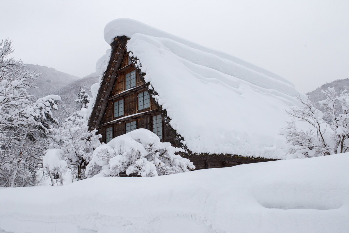 Shirakawa-go House in WInter
