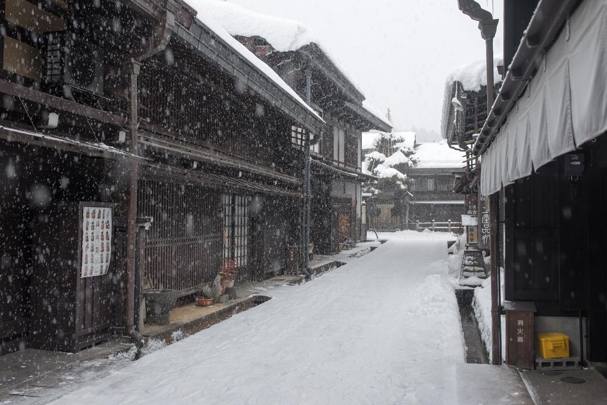 Snowing Takayama