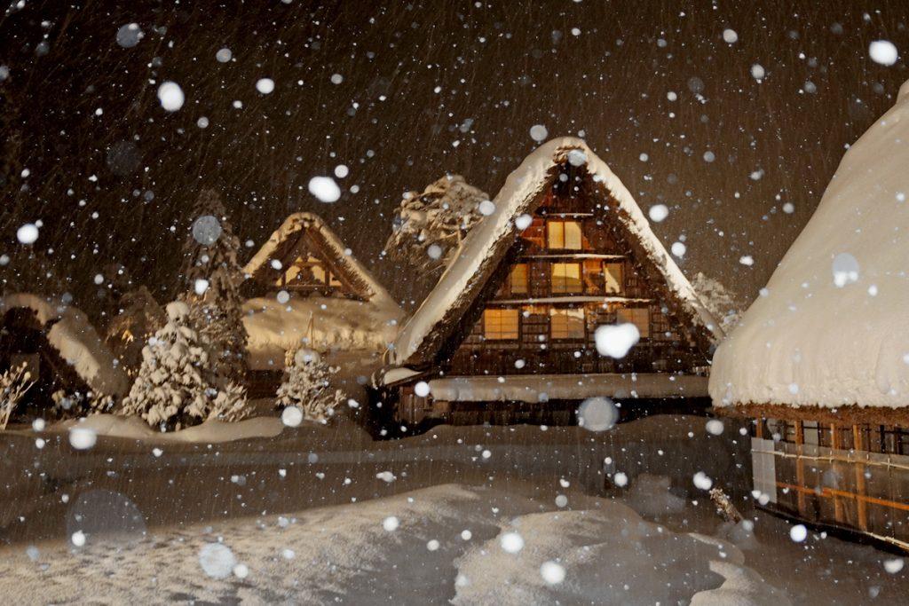 Shirakawa Go Winter Light Up Tiptoeingworld
