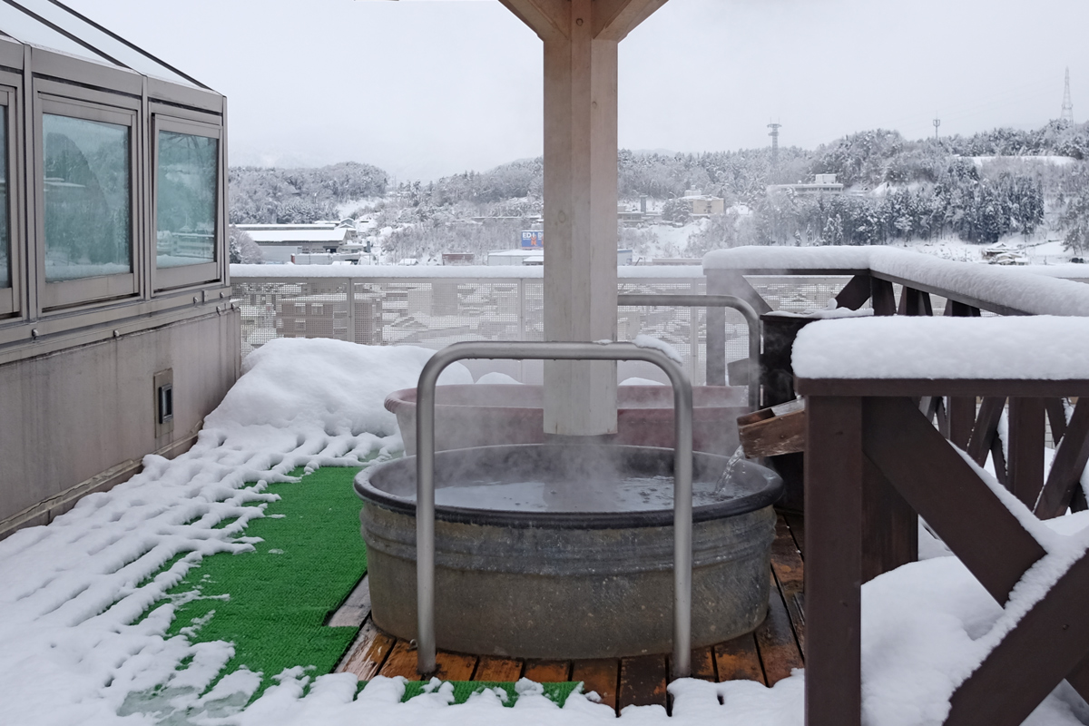 Rooftop Hot Spring at Hida Hotel Plaza