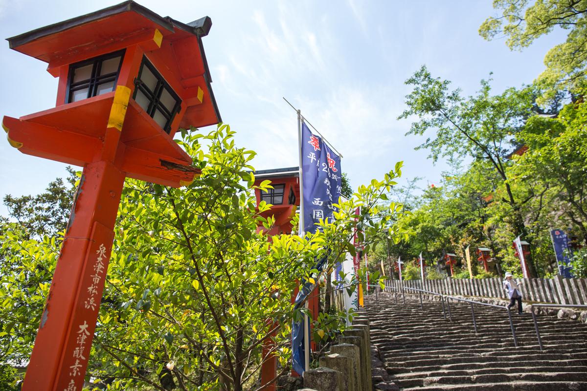 Stairs at Nachi Taisha Shrine