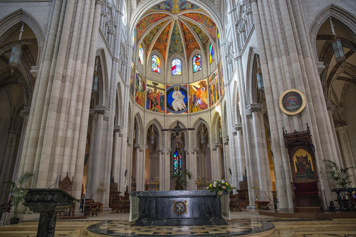 Inside of Catedral Madrid