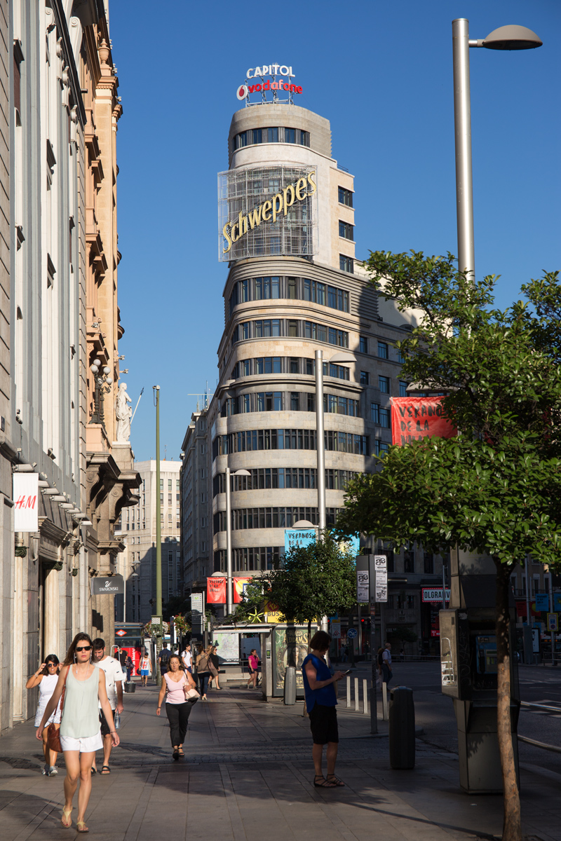 Gran Via Capitol Building Madrid