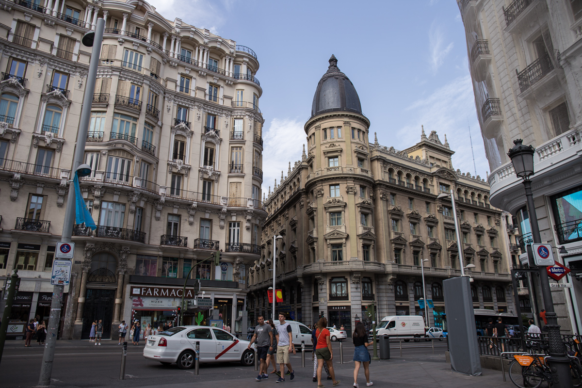 Gran Via street Madrid