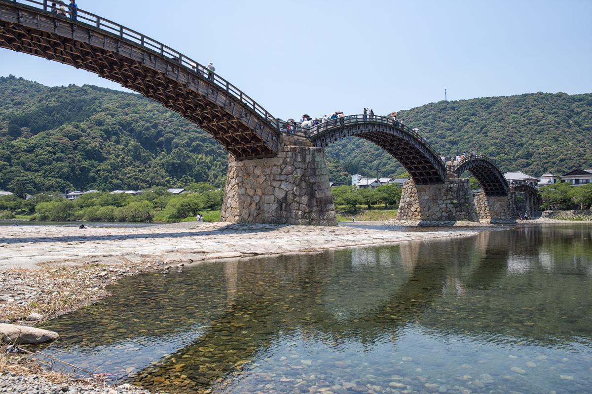 Kintai-kyo Bridge in Iwakuni Yamaguchi
