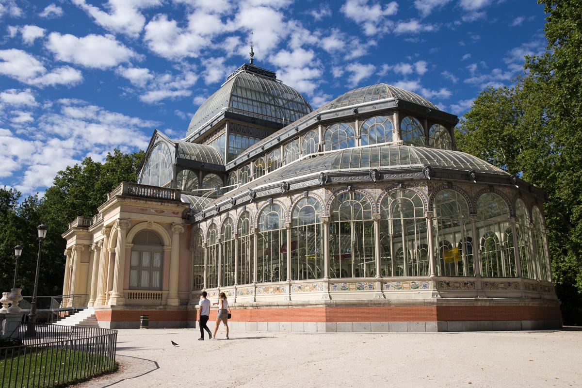 Palacio de Cristal in Reitro Park Madrid