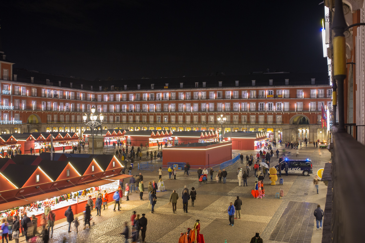 Evening View of Plaza Mayor Madrid