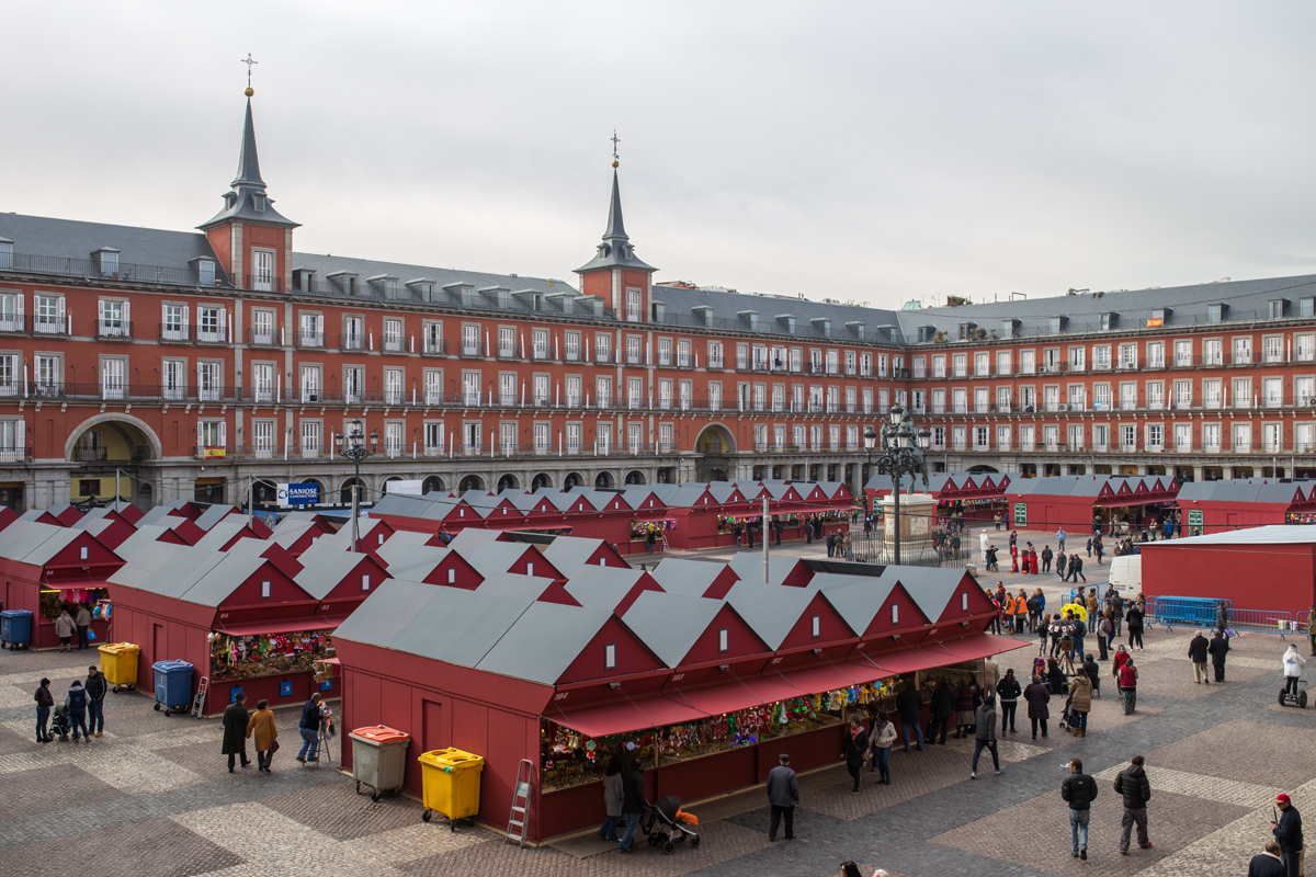 Plaza Mayor December Madrid