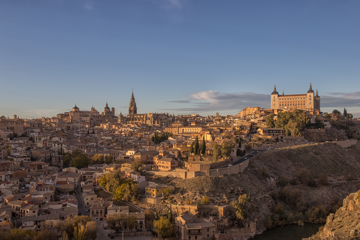 Toledo in sunset time