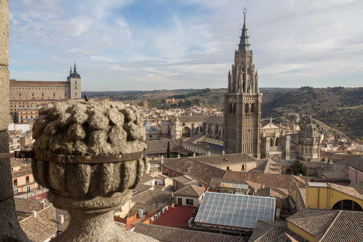 View from San Ildefonso Church Toledo