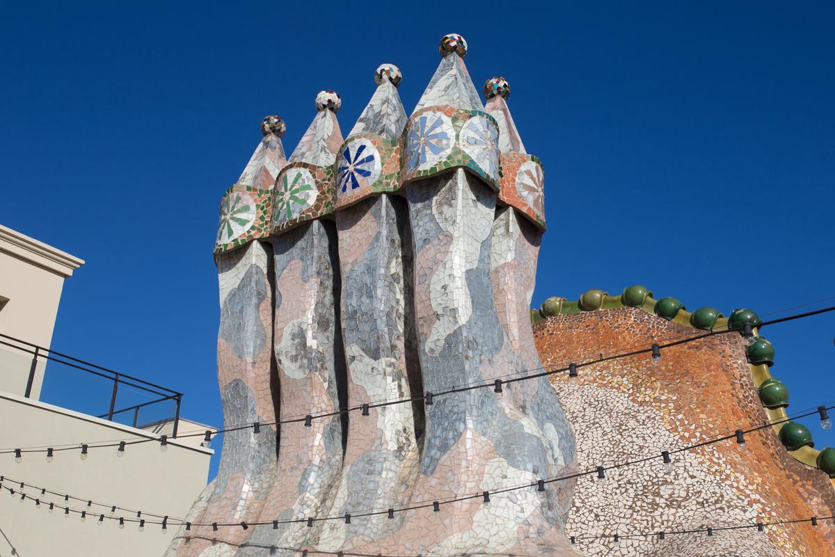 Chimneys Casa Batllo Barcelona