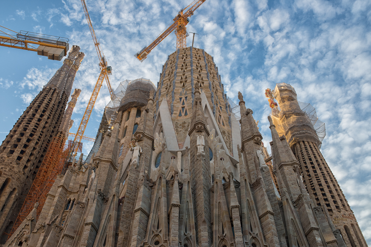 Sagrada Familia Construction in 2018