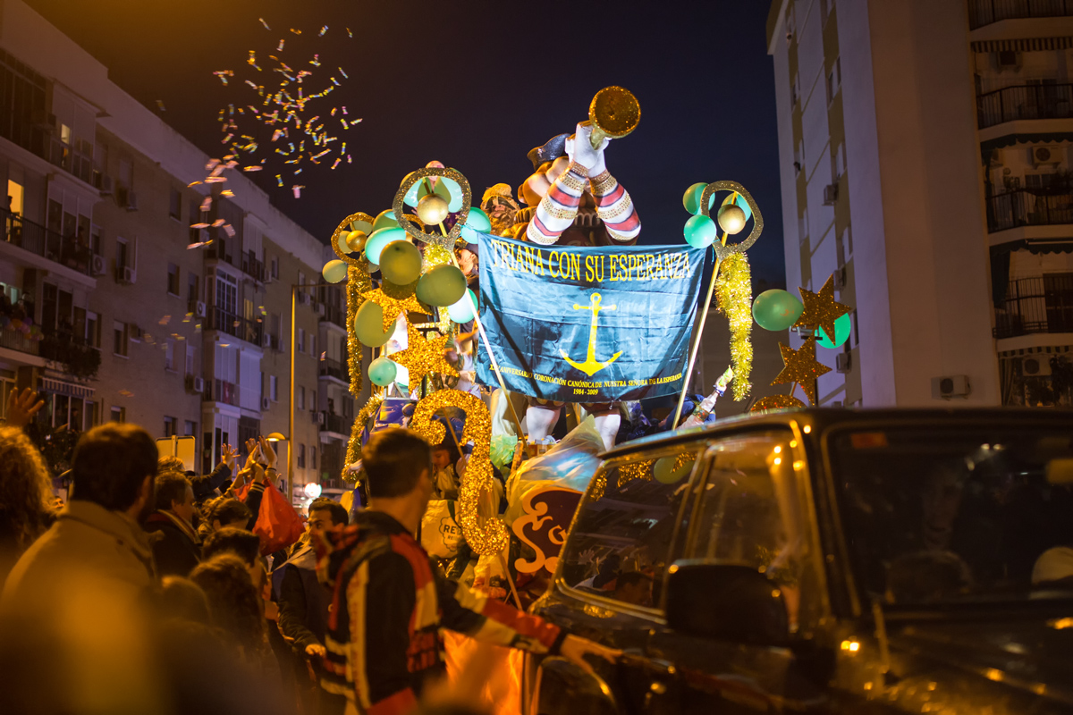 Candies at Epiphany Reyes Parade Seville Spain