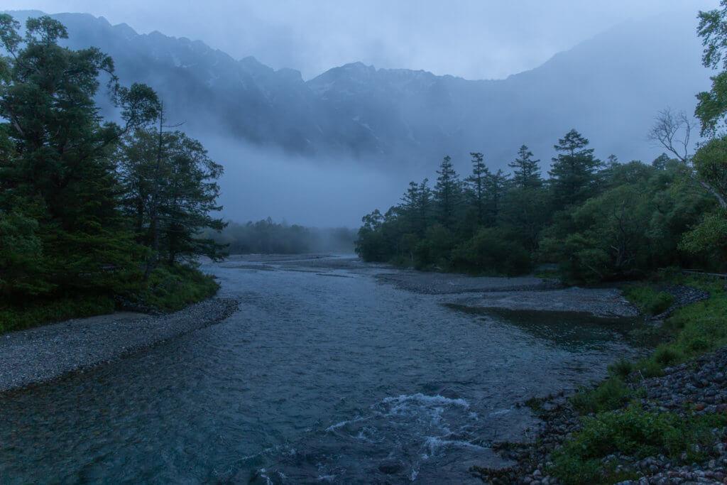 Misty Kamikochi in the morning